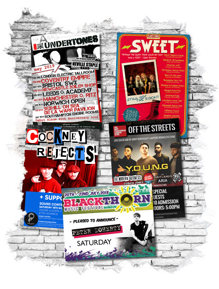 Live Music Event Poster Design Services